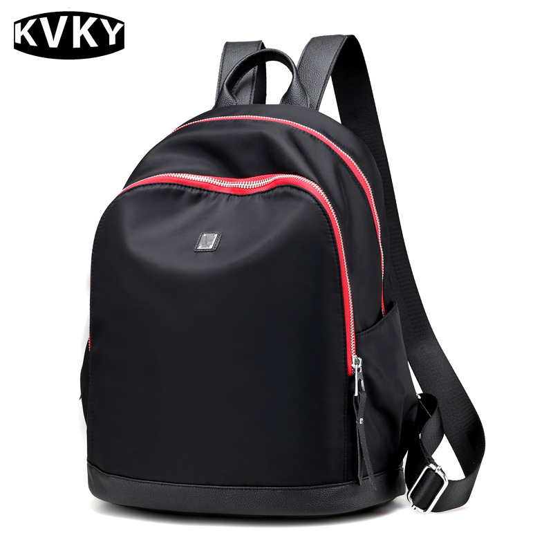 KVKY Brand Women Backpacks Waterproof nylon backpacks Female Student School Bag Casual Travel Teenager Girl bolsas