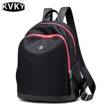 Kvky марка женщины рюкзаки водонепроницаемый нейлон рюкзаки студентка школьная сумка случайные путешествия подросток девочка bolsas