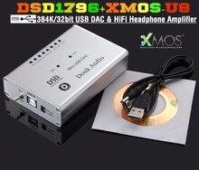 Music-hall Dernière Mini Haute-Résolution DSD1796 XMOS U8 Asynchrone 384 K/32bit USB DAC Casque Amplificateur Préampli