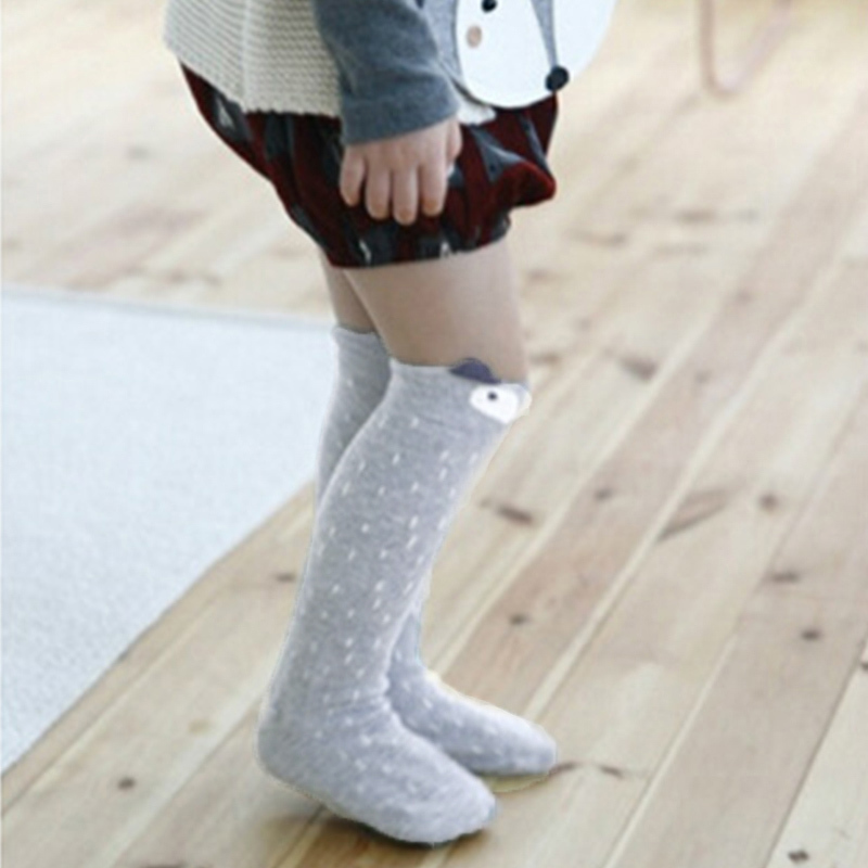 1 Pair 2019 New Spring Summer Cotton Lace Double Needle Children Breathable kids Socks Solid Baby boy Girls Knee Socks School in Socks from Mother Kids
