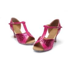 Hot sale Women's  Girls Ballroom Latin Tango Dance Shoes heeled 7cm / 5cm Sales Silver Gold Black Brown color wholesale WZSP22-1