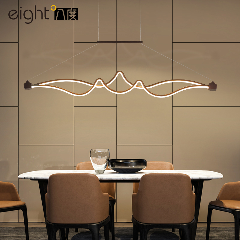 Modern restaurant chandelier bar lamps creative fixtures novelty dining chandeliers living room lighting LED hanging lights long restaurant chandeliers creative wrought iron crystal bar lighting modern minimalist living room dining table lamps led lamp