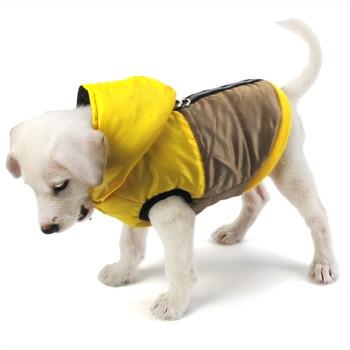 Manteau bicolore bleu ou jaune