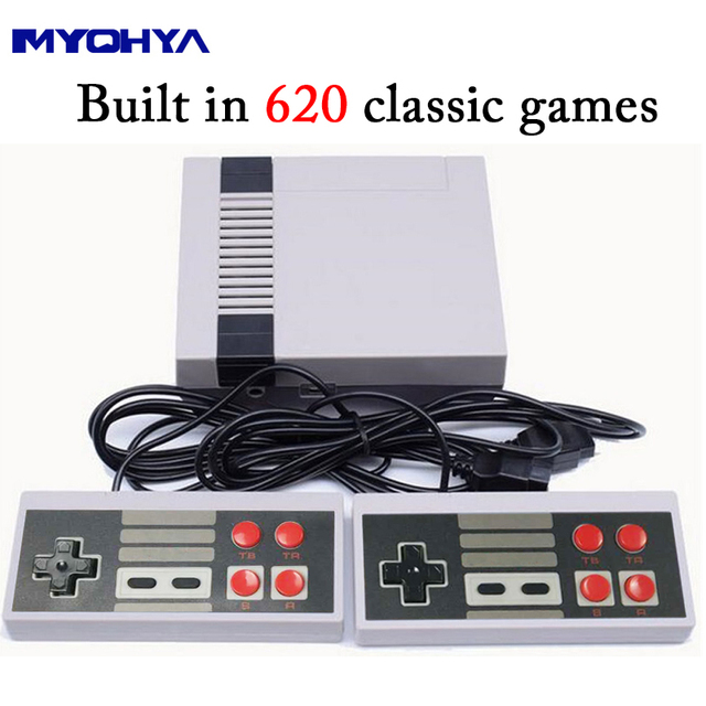 HDMI or AV output Retro Classic Video Game Console Built-in 620 Games 8 Bit Family TV handheld game player Double Gamepads