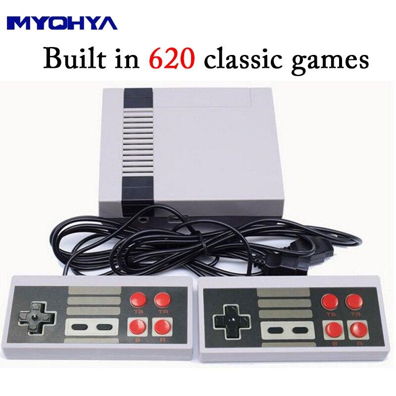 MYOHYA Mini Retro Classic Video Game Console Built-in 620 Games 8 Bit PAL&NTSC Family TV handheld game player Double Gamepads