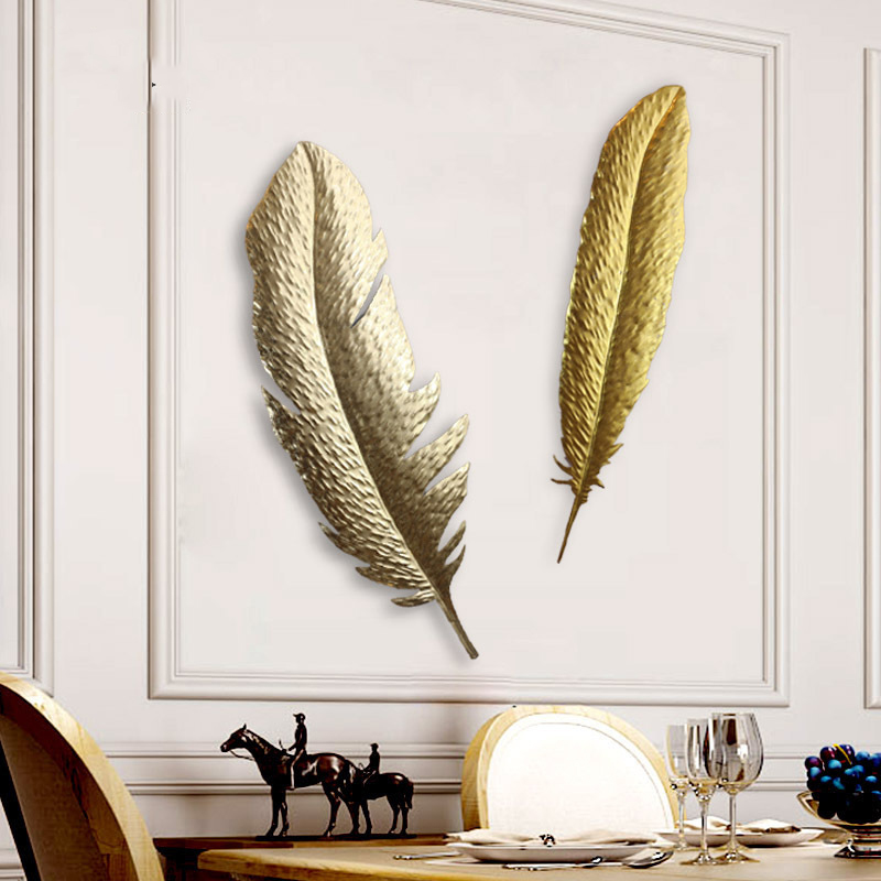 Gold Feather Wall Decoration