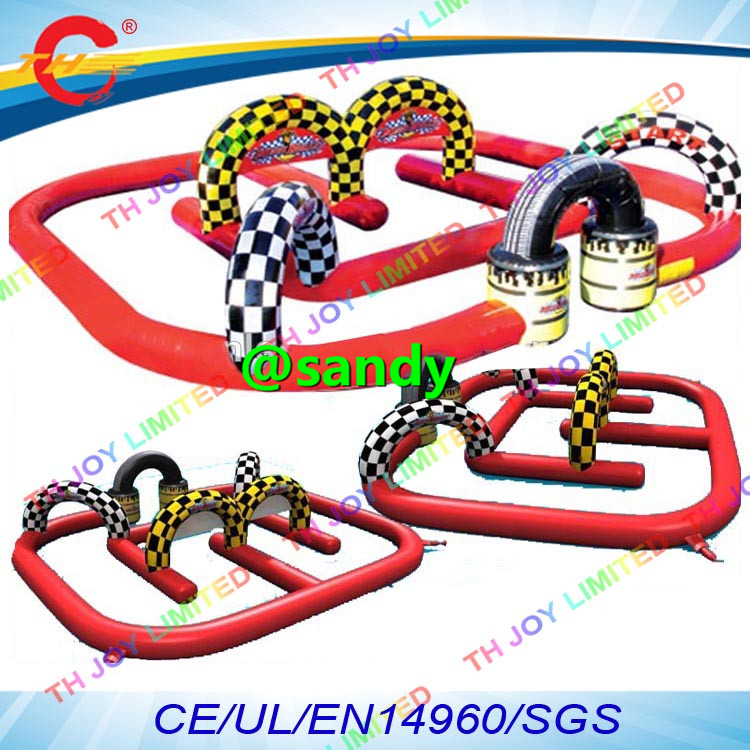free air shipping to door,ATV/Go Karts air inflatable racing track,inflatable airtracks,quad air