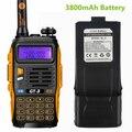 Baofeng GT-3 Mark II 3800 mAh Batería VHF/UHF de Doble Banda FM Jamón de Dos Vías Transceptor de Radio Walkie Talkie escáner