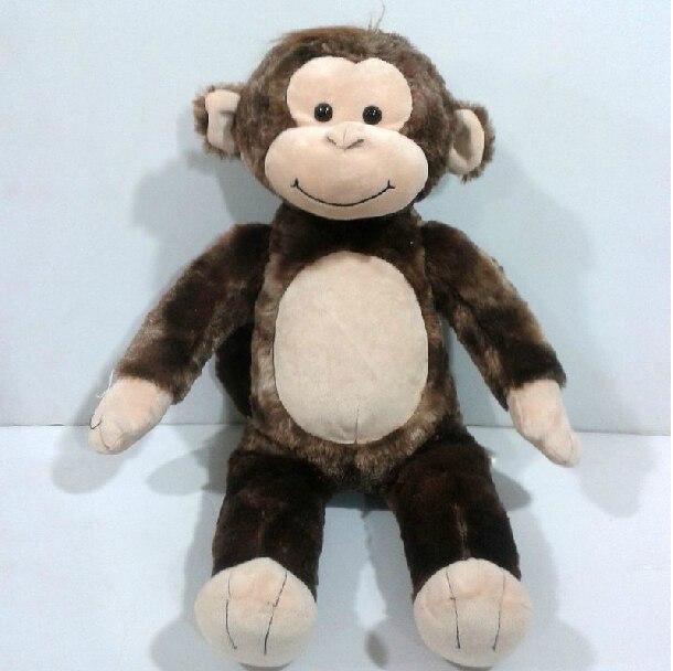 Kahve maymun bir ayı kurmak peluş oyuncak bebek çocuk hediye 45cm/17.7″