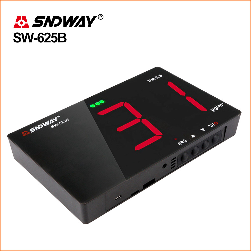 SNDWAY Gas Analyzers Gas Detector Natural Combustible Detector Wall Mounted Air Quality Monitor Gas Monitor PM2