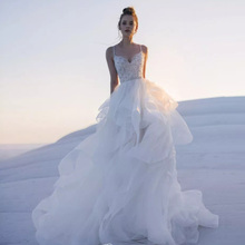 HIRE LNYER Sweetheart Neck Beading Beach Wedding Dresses