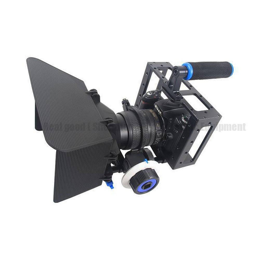 3in1 DSLR Cage Kit Handheld Stabilizer Mount Rig+Matte Box+Follow Focus For Canon 5D 6D 7D 60D 5DII 5DIII Camera Video Camcorder потребительские товары cs pro cs 1 dslr 6d canon 5d 3 7 d t3i d800 d7100 d3300 pb039