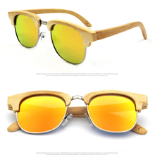 BARCUR Original Natural Bamboo Sunglasses with wooden case