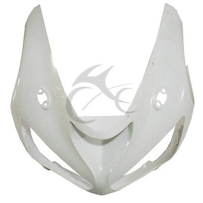 ABS Unpainted Upper Front Fairing Cowl Nose For KAWASAKI ZX6R ZX636 ZX-6R 05-06 front fender fairing for kawasaki ninja zx6r 2000 2001 2002 unpainted white new replacement zx 6r 00 02