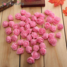 150 pçs 3cm espuma rosa artificial bouquet de flores multicolorido rosa decoração de flor de casamento scrapbooking falso flor de rosa