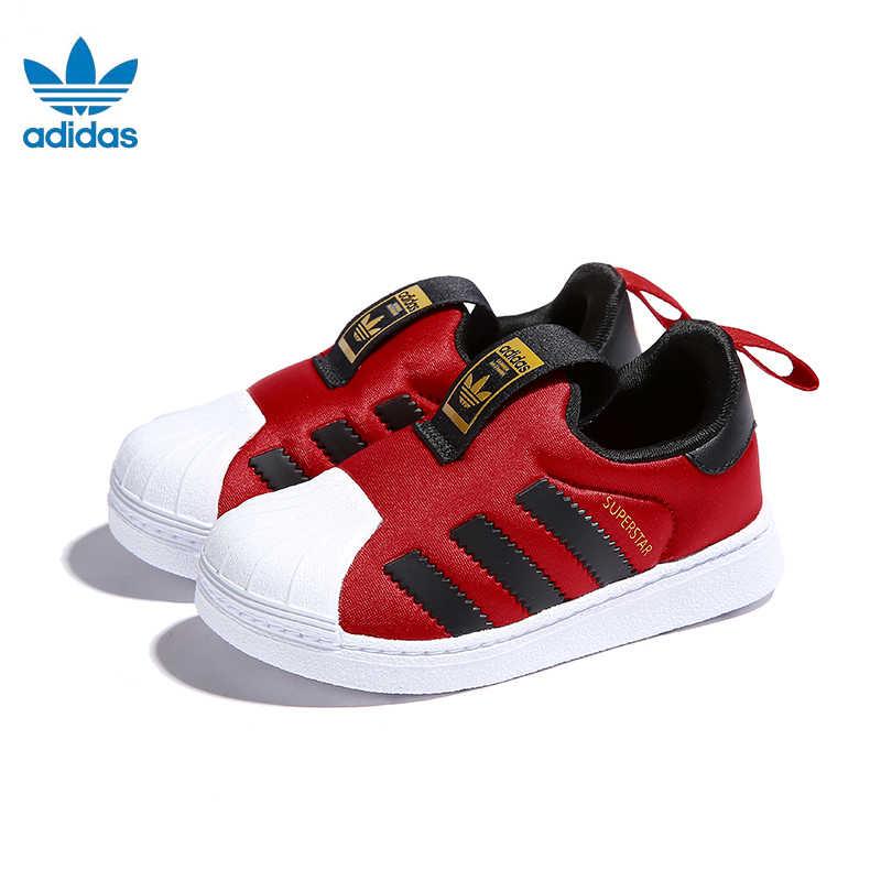 Adidas Superstar Original รองเท้าเด็กใหม่เด็กรองเท้าวิ่งรองเท้า Breathable กีฬารองเท้าผ้าใบ # CG6573