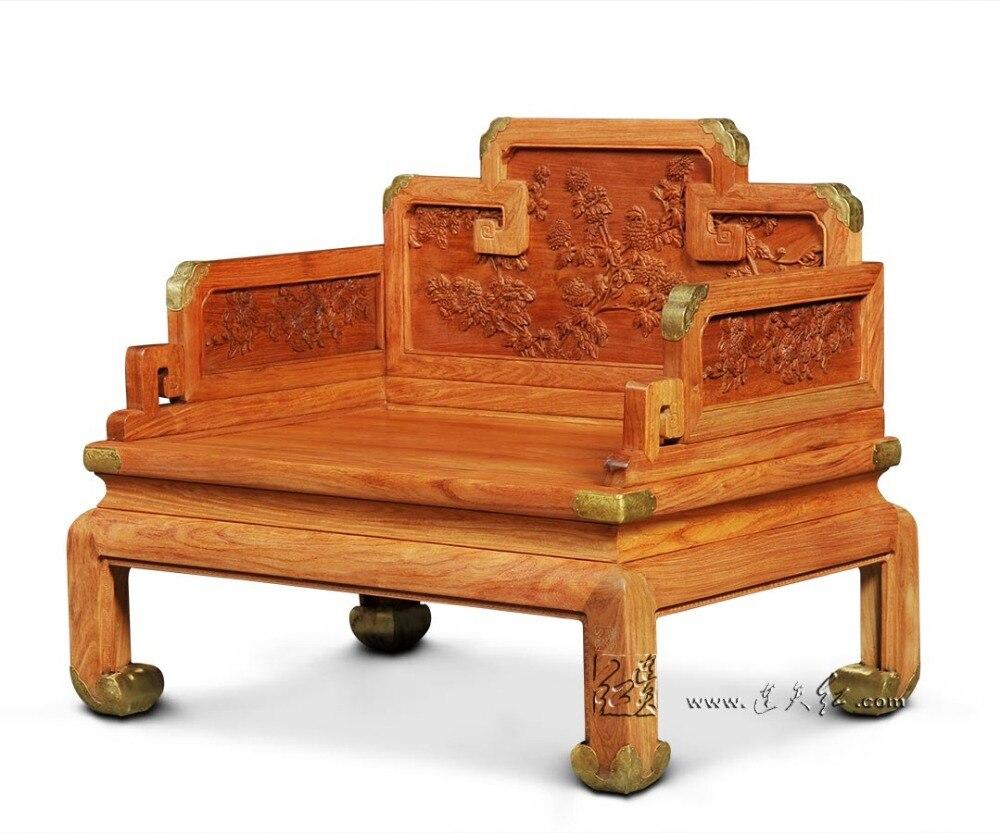 Palissandre Salon Soutenu Loisirs Chaise En Bois Massif Roi Trone Haut De Gamme Sculpture Fauteuils Nouveau Classique Retro Meubles Maison Dans Chaises