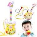 Guitarra eletrônica Instrumento Musical Educacional Toy Kid Presente Educação infantil Brinquedo Instrumento Musical