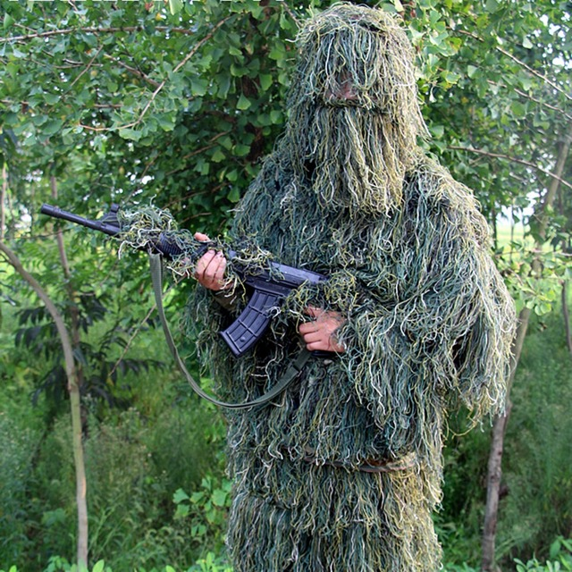 2017 CS Forest Design Camouflage Ghillie Suit grass type hunting clothingyowie Sniper 3D bionic & 2017 CS Forest Design Camouflage Ghillie Suit grass type hunting ...