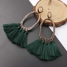 KLEEDER 2019 Tassel Drop Earrings Bohemian Ethnic Sequins for Women Fashion Jewelry Dreamatcher Boho Wedding Earring oorbellen