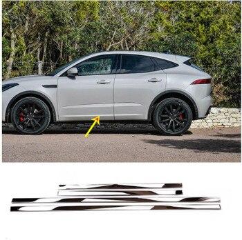 4pcs Stainless Steel Car Side Decoraiton Trim For Jaguar E-Pace 2018 2019 Accessories