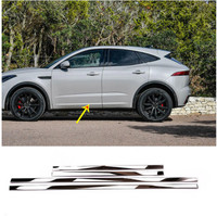 4pcs Stainless Steel Car Side Decoraiton Trim For Jaguar E Pace 2018 2019 Accessories