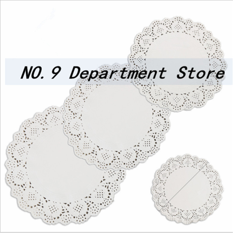 Paper Crafts Biscuit-Decoration Lace Round Doyleys Wedding-Party 100pcs Oil-Absorbing
