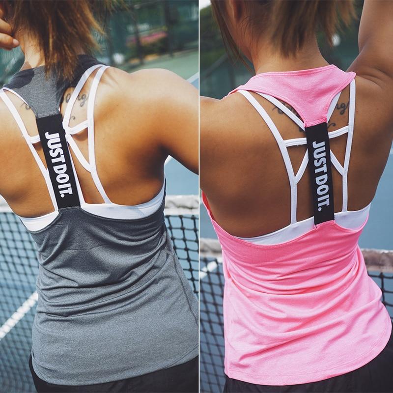 Nur Tun Es Frauen Sport Shirt für Frauen Sleeveless Yoga Top Laufshirt Tank Tops Weste Fitness Frauen Sport-Shirt singuletts