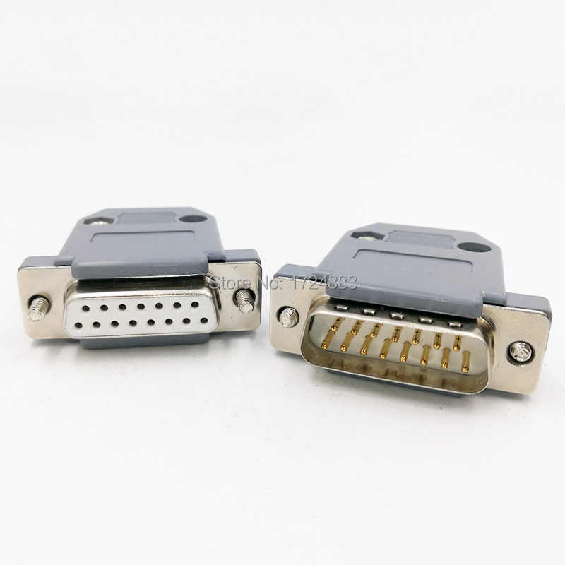 DB15 D-SUB 2 Row 15 Pin Plug Breakout Terminals Board Connector wv