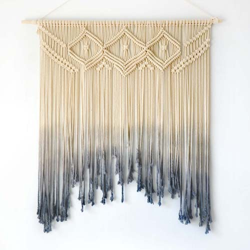 Macrame wall hanging decoration wall art handmade tapestry for Decoracion hogar aliexpress