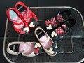 Дети пляжные Сандалии Микки Минни дети малышей детские маленькие девочки кристалл желе обувь конфеты запах стиль mini melissa