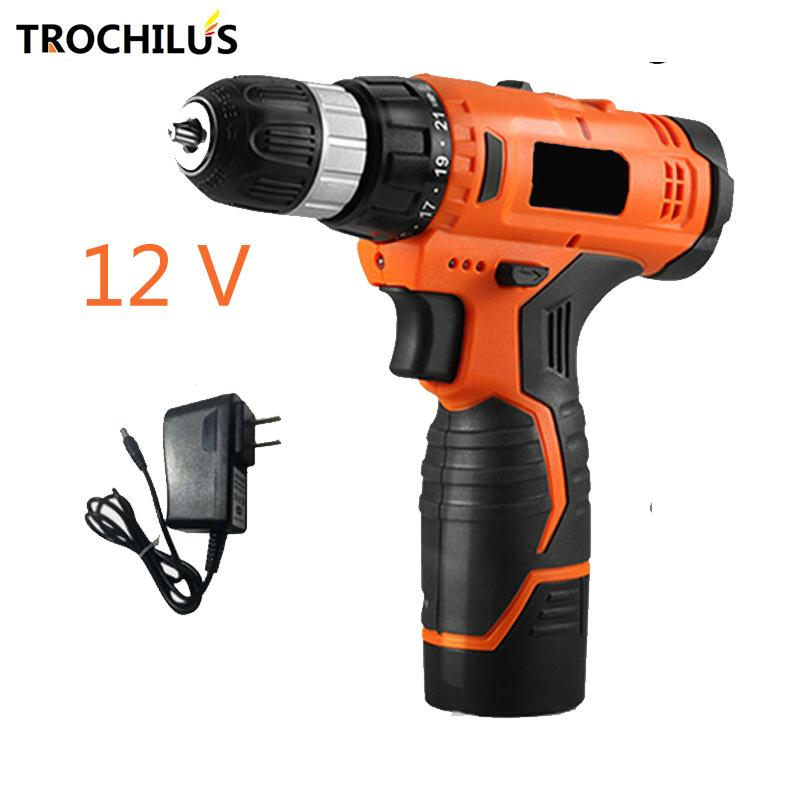 12V cordless electric Drill Multi-function Power Tools Mini drill Screwdriver with Lithium Battery Miniature Electric Drill 6v electric battery power screwdriver cordless drill 200rpm with led light screwdriver household dyi tools