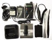 Kabel BaoFeng UV-5R Walkie Talkie + ładowarka samochodowa + mały pojemnik na baterie Handy Polowanie Odbiornik Radiowy Z Headfone