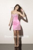 Sexy Corset Beading Short Prom Dresses 2019 Beading Pink Homecoming Party Gown vestidos de fiesta largos elegantes de gala