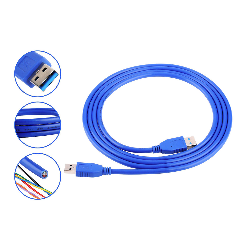 Superspeed USB 3.0 Type A Male to A Male Extension Cable for Radiator Webcam Car MP3 Camera Computer USB Dater Cable Fast Speed
