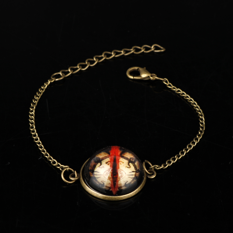 MQCHUN New Eyes Griftah Amulet Glass Bangle Diablo 3 Hradi Keeper Guardian Ryans Bracelet Christmas Gift-25