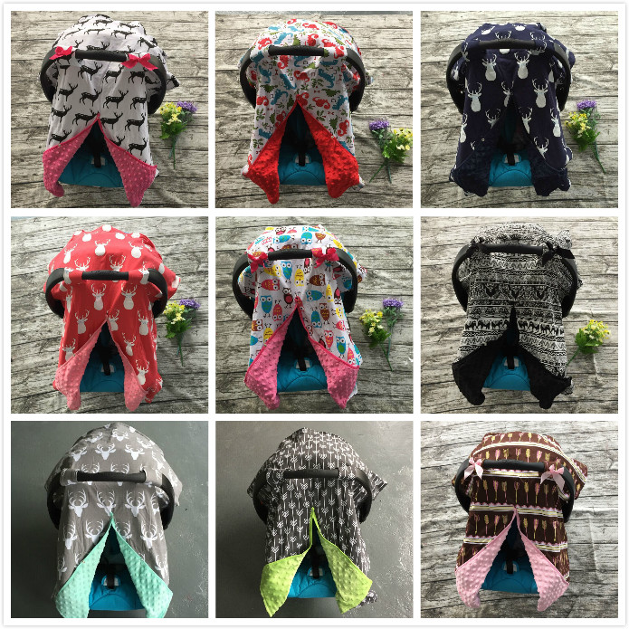 cotton new free shipping baby <font><b>Car</b></font> <font><b>Seat</b></font> Canopy cover infant children animal deer dinosaur owl carseat cover baby canopies