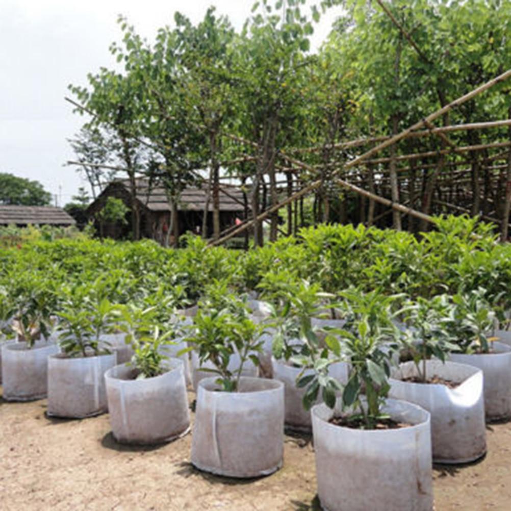 5 Sizes Fabric Grow Bags Fabrics Garden Supplies Nursery Pots
