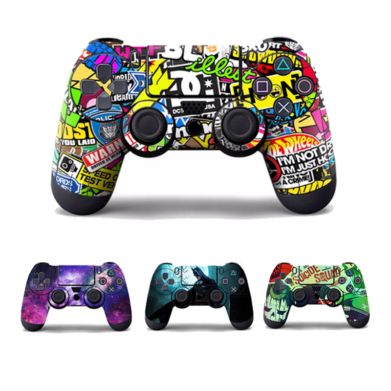 Bomb Bombing Joker Batman Vinyl Decal Skin Sticker For Sony Playstation 4 Controller Star Protector Skins Cover For PS4 Controle