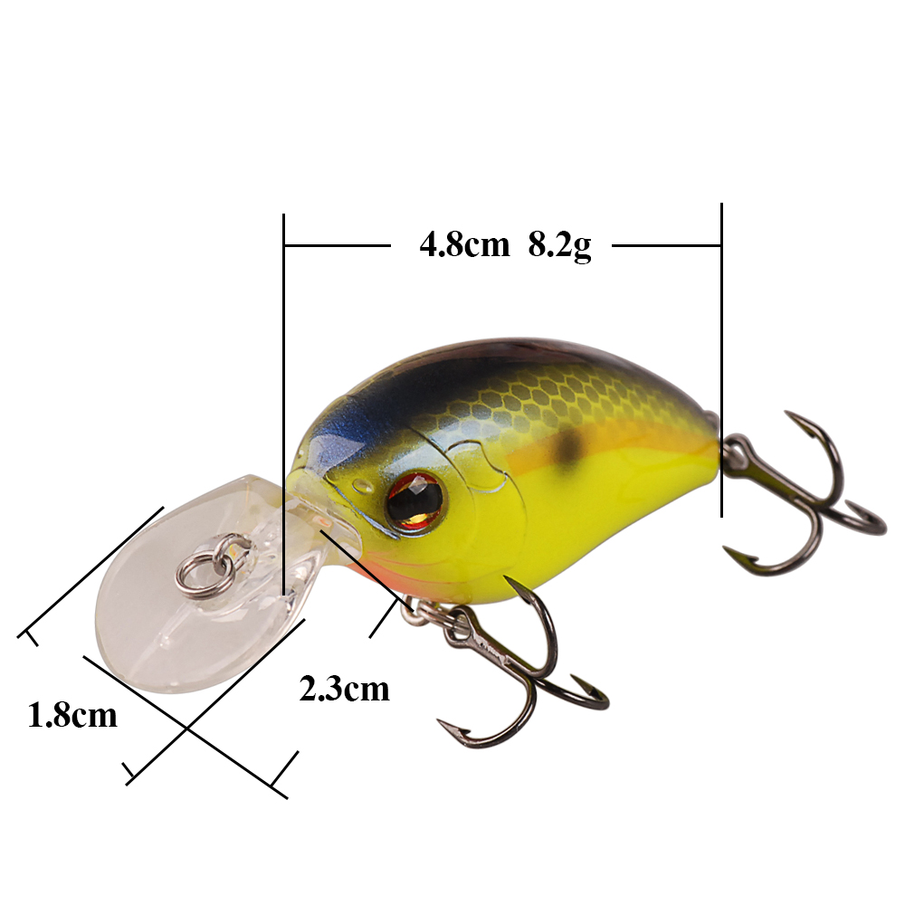 Smart Crankbait 4.8cm 8.2g Floating(0.6m) Fishing Lures VMC Hook Isca Artificial Pesca Leurre Peche Crankbait Fishing Wobblers