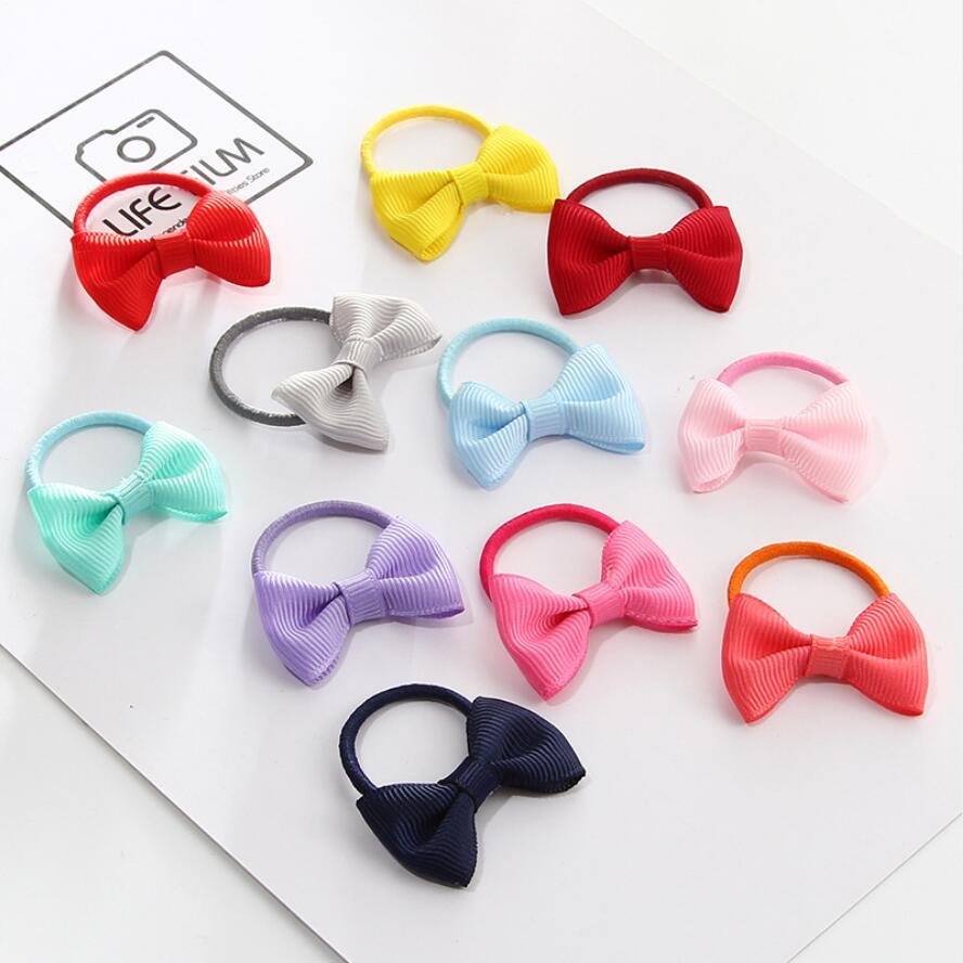 12pcs//Pack Cute Elastic Hair Bands Kids Rubber Band Girls Hair Accessories NEW