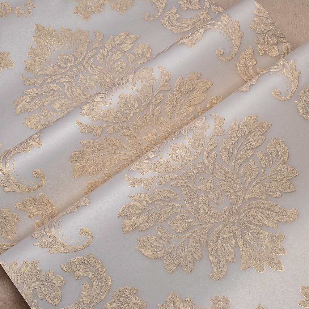 Deep Embossed Damask Wallpaper Metallic Gold Luxury High Relief Wall Paper Classic 3d Stereo Wallpaper for Walls Roll цена