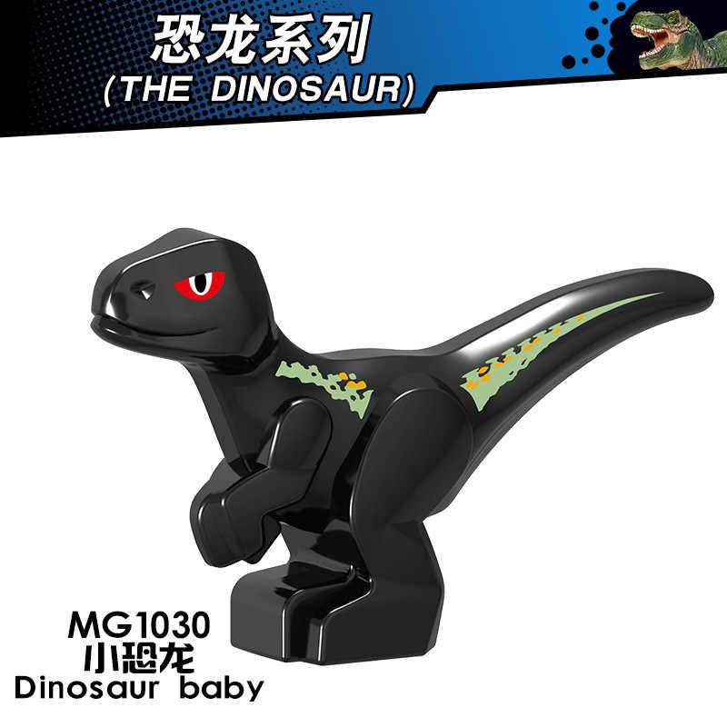 Creatore Jurassic Dinosaur World Baby Park Figure Carnotaurus T-Rex Dinosauro Carnotaurus Tirannosauri Creatori Blocchi Giocattolo Animale