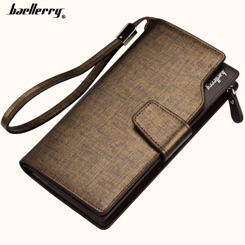 2018 új divat férfi pénztárca alkalmi pénztárca férfiak erszényes tengelykapcsoló táska márka bőr hosszú pénztárca design kézitáska férfi telefon pénztárca