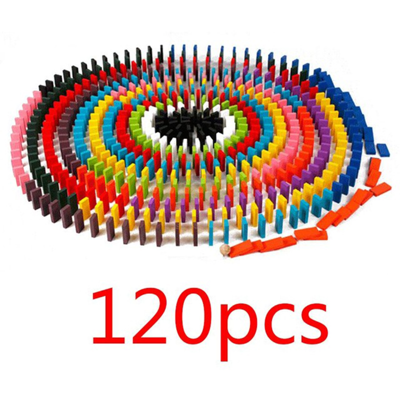 Domino Inventive 120pcs/set Rainbow Colored Educational Montessori Toy Birthday Gift For Children Block Brinquedo Wood Domino Blocks Funny Toys Possessing Chinese Flavors Building & Construction Toys
