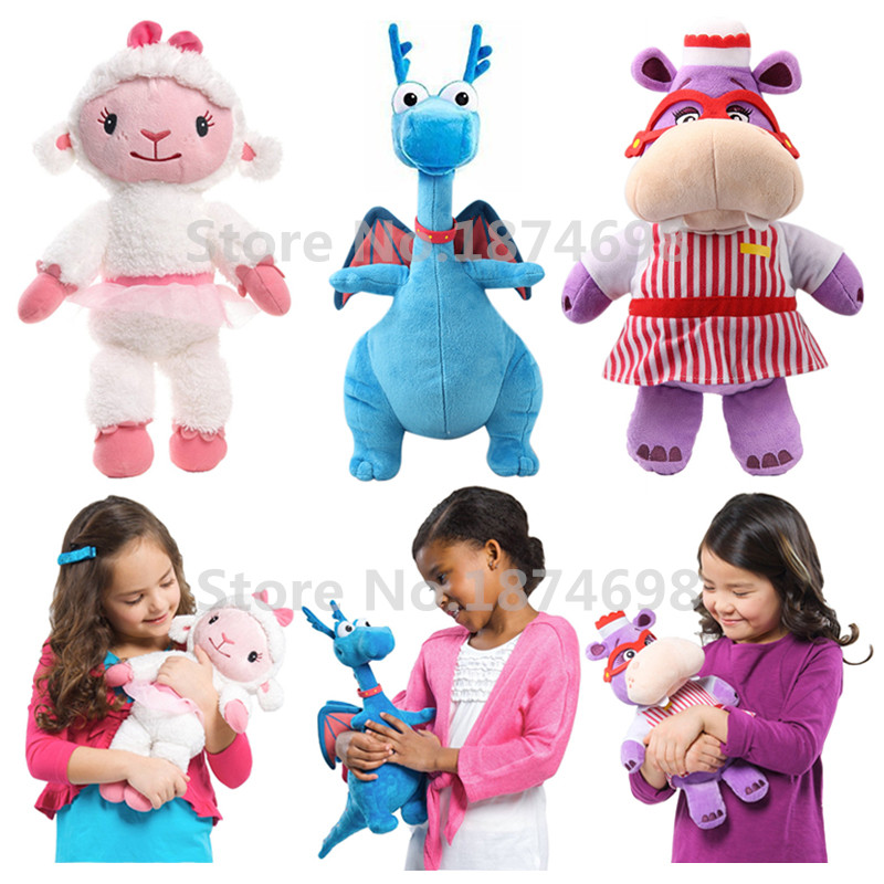 New Doc Mcstuffins Lambie Lamb Stuffy Dragon Hallie Hippo Plush