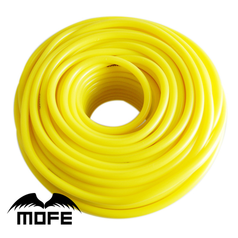 MOFE Universal 1Meter 3mm/4mm/6mm/8mm Silicone Vacuum Tube Hose Silicon Tubing Blue Red Yellow Car Accessories image