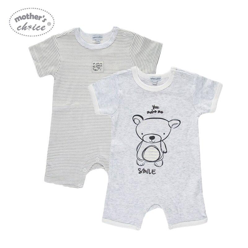 Mother's Choice Summer Short 2pcs / lot Baby Rompers Cotton Noworodek - Odzież dla niemowląt - Zdjęcie 1