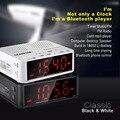 Alarme Relógio Bluetooth Speaker Amplificador portátil com grande display LCD Luminoso, Rádio FM, jogo de cartão TF Mãos-Mic Altifalante livre