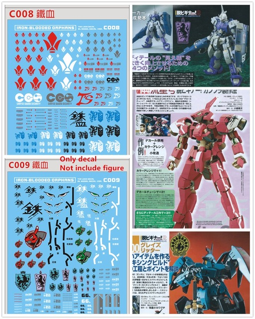 D.L high quality Decal water paste For Bandai MG 1/100 RG 1/144 Iron Blooded Orphans Gundam DL011